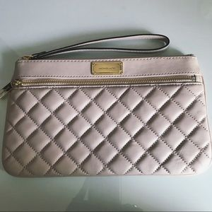 Blush Pink Quilted Michael Kors Clutch